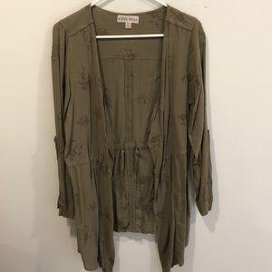 Hunter green layering jacket